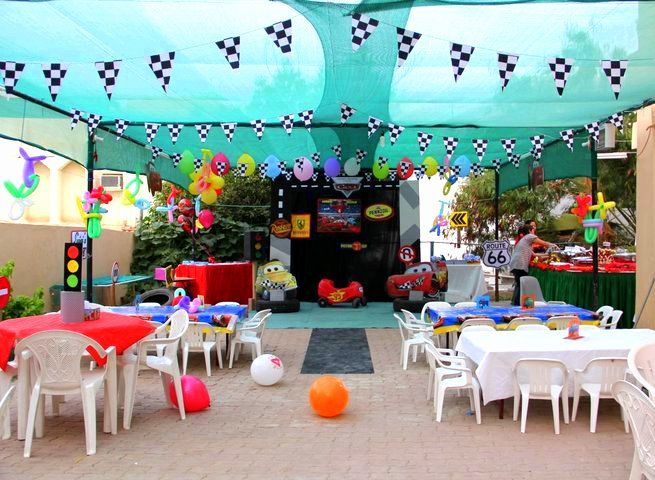 cars themed birthday party Lightning Mc Queen Cars Birthday