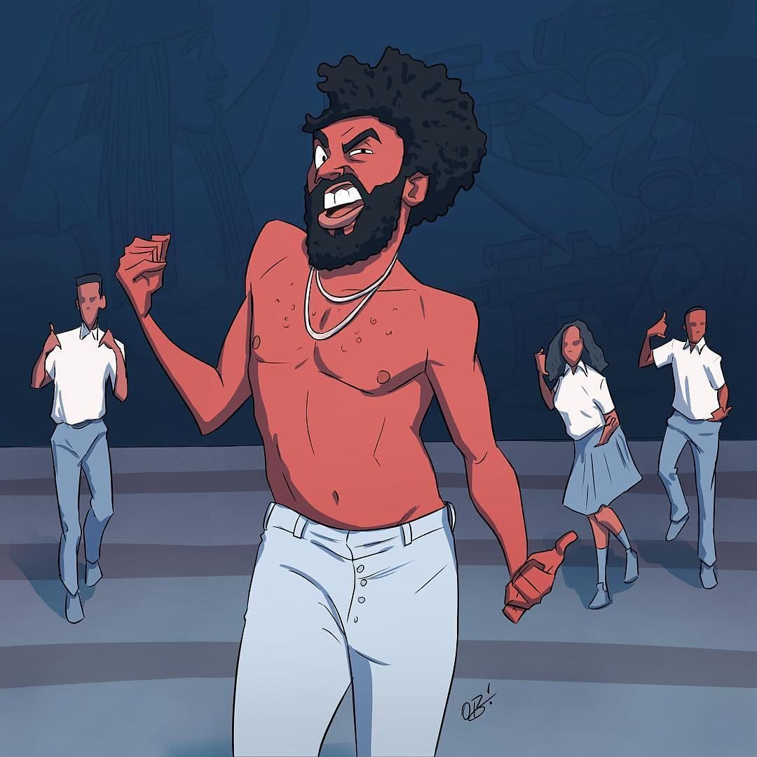 This Is America Childish Gambino Don In 2019 Rapper Art