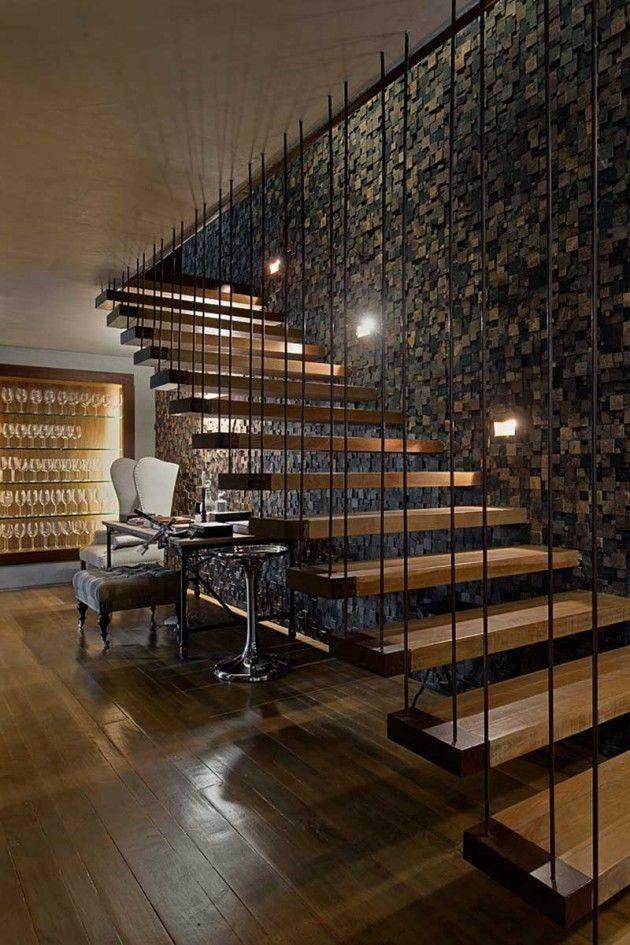 Pin de Mileydi Amaro Cubas en Escaleras Pinterest Escalera - diseo de escaleras interiores