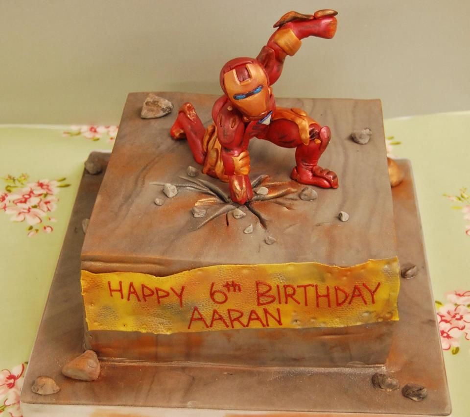 Iron man cake from The Jolly Good Pud Company wwwjollygoodpudco