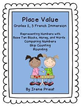 This Is A Collection Of 15 Reproducible Worksheets To Practise Place Value Concepts In French The Act 2nd Grade Worksheets Place Value Worksheets Place Values