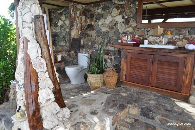 . Best Bathroom Ever    Yes  its outside  but no one can see you