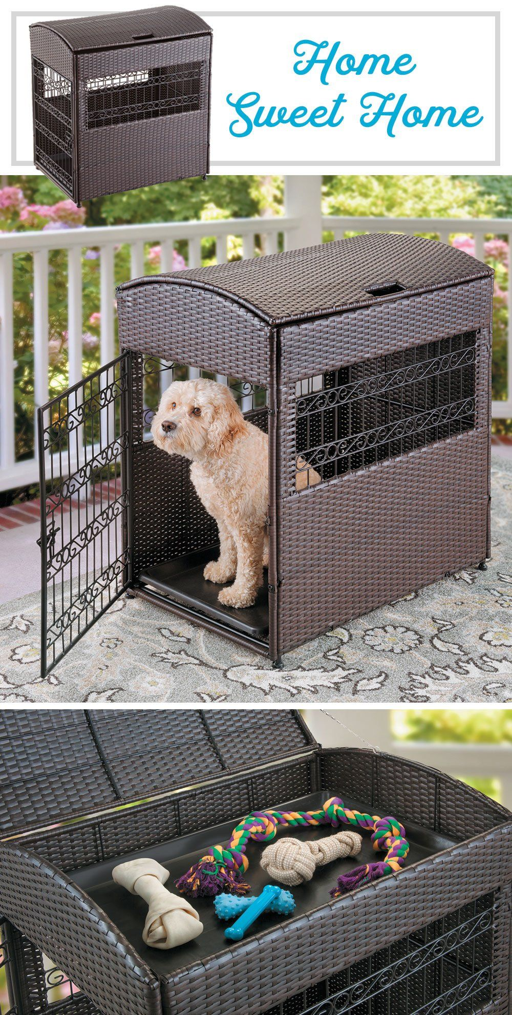 Let Your Dog Hang Out Or Sleep In Style In Our Bailey Pet Crate