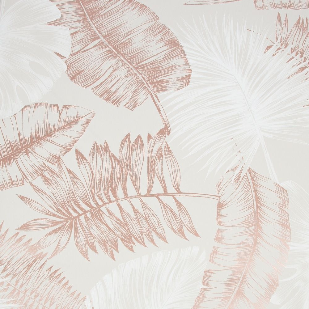 Daintree Taupe and Rose Wallpaper (Taupe/Rose Gold