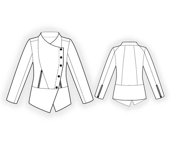 Double-Breast Jacket - Sewing Pattern #4580 Made-to-measure sewing ...
