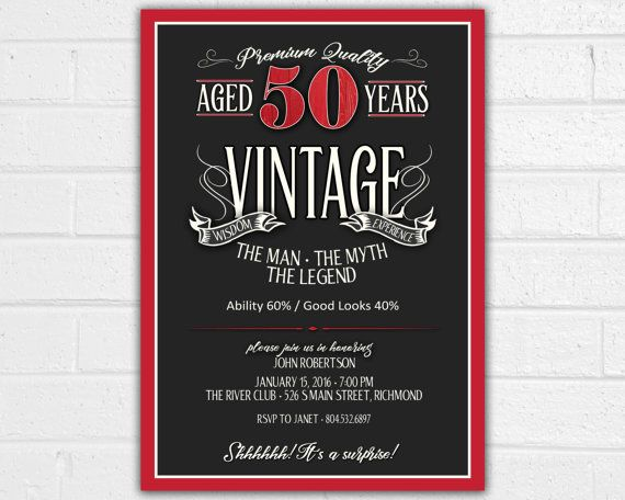 Pin By Lena On Parties In 2019 50th Birthday Invitations