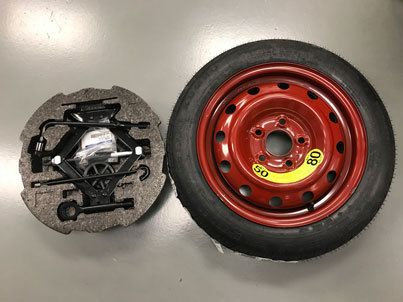 This Clearance Hyundai Veloster Spare Tire Kit Does Have Some Cosmetic Damage There Are Dents In The Lip Of The Rim From T Hyundai Veloster Spare Tire Hyundai