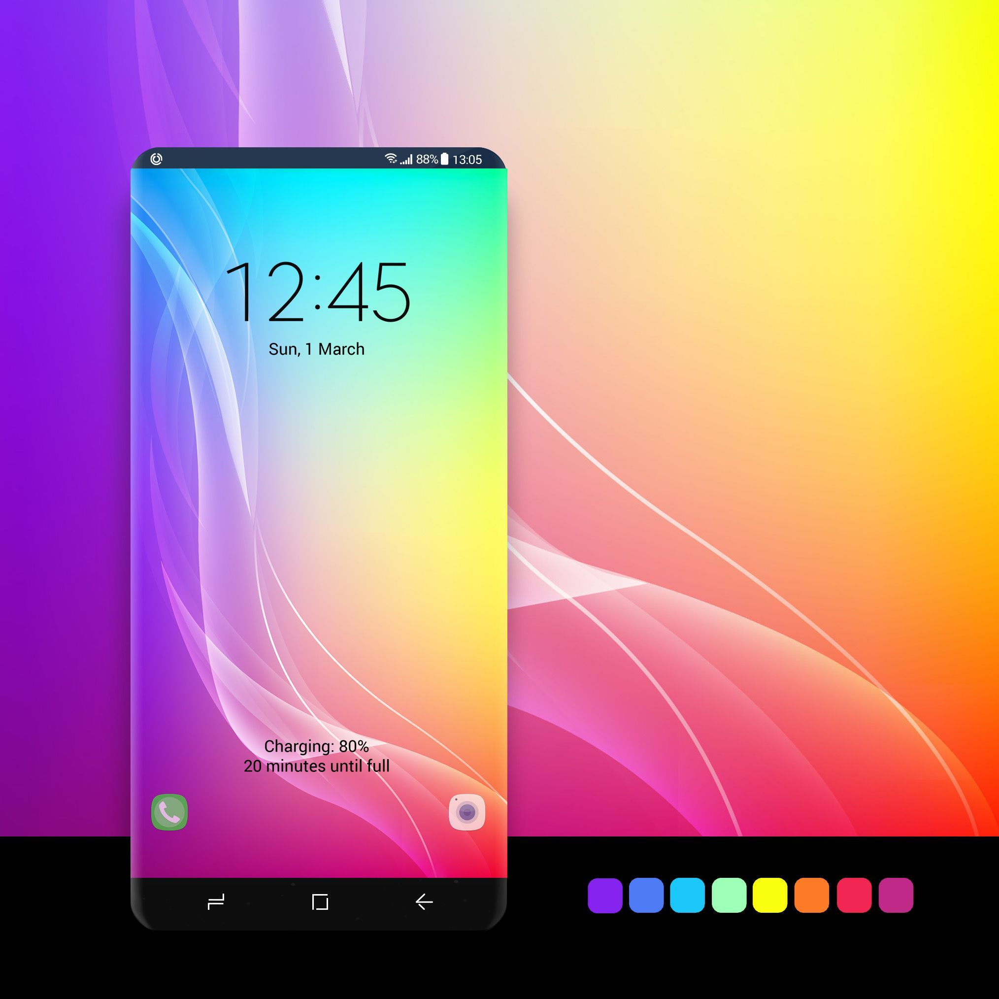 Rainbow Wallpaper In 2020 Samsung Galaxy Wallpaper Android Samsung Galaxy Wallpaper Samsung Wallpaper