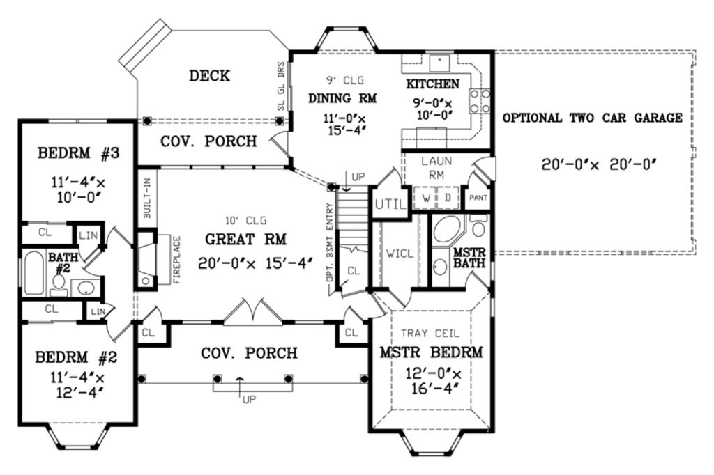 Country Style House Plan 3 Beds 2 Baths 1380 Sq Ft Plan 456 2 Pool House Plans Luxury House Plans Farmhouse Floor Plans
