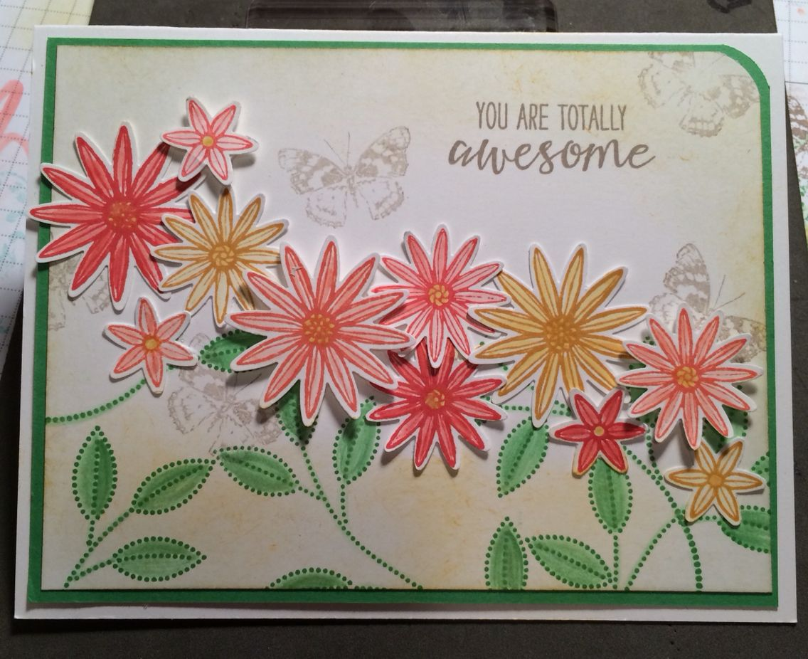 Created with Grateful Bunch Stampin'Up!® Stamp set and punch. Stampin'Up!©
