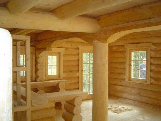 Houtstapelbouw chalet slatina houten huis bouwen interior