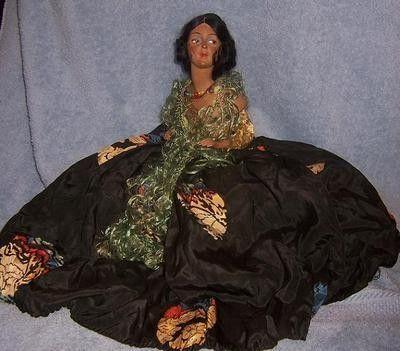 "7.5"" Antique German Boudoir Half Doll~Chalk Pin Cushion Bust~Lovely Spanish Lady (08/13/2012)"