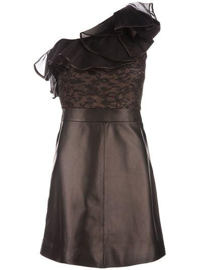 valentino  leather dress