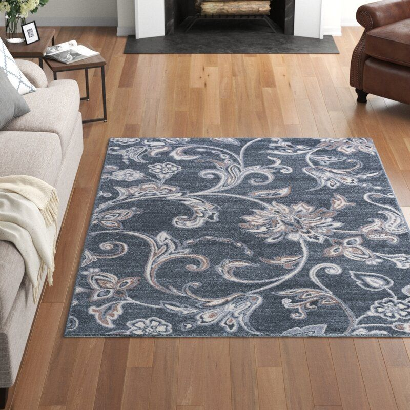 Arkadelphia floral dark gray area rug grey area rug
