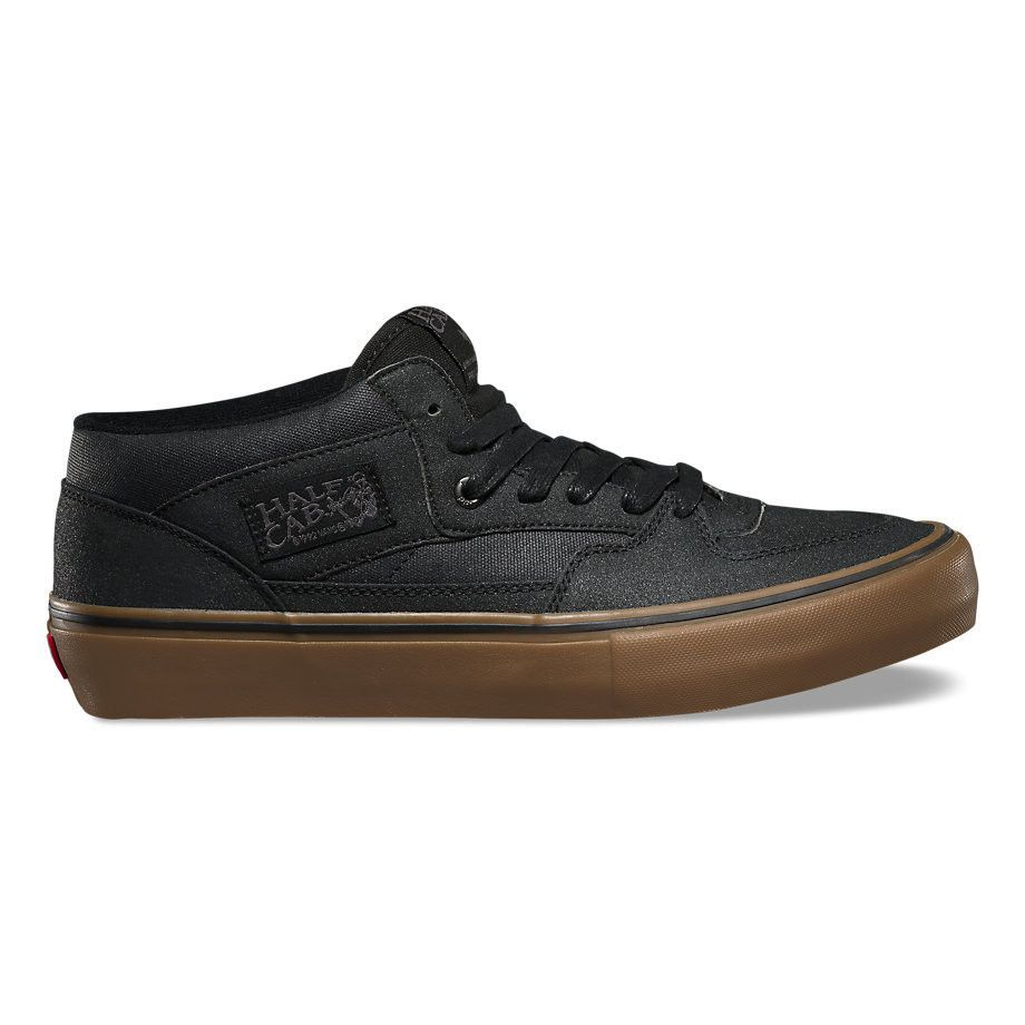 ed520af99c Vans Men s Half Cab Pro Shoes - Xtuff Black Gum