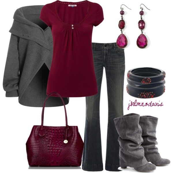"""Gray & Berry"" by jklmnodavis on Polyvore"