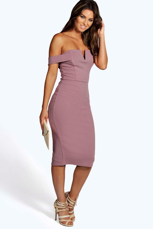 Cara Bardot Midi Bodycon Dress | Bodycon dress, Bardot and Boohoo