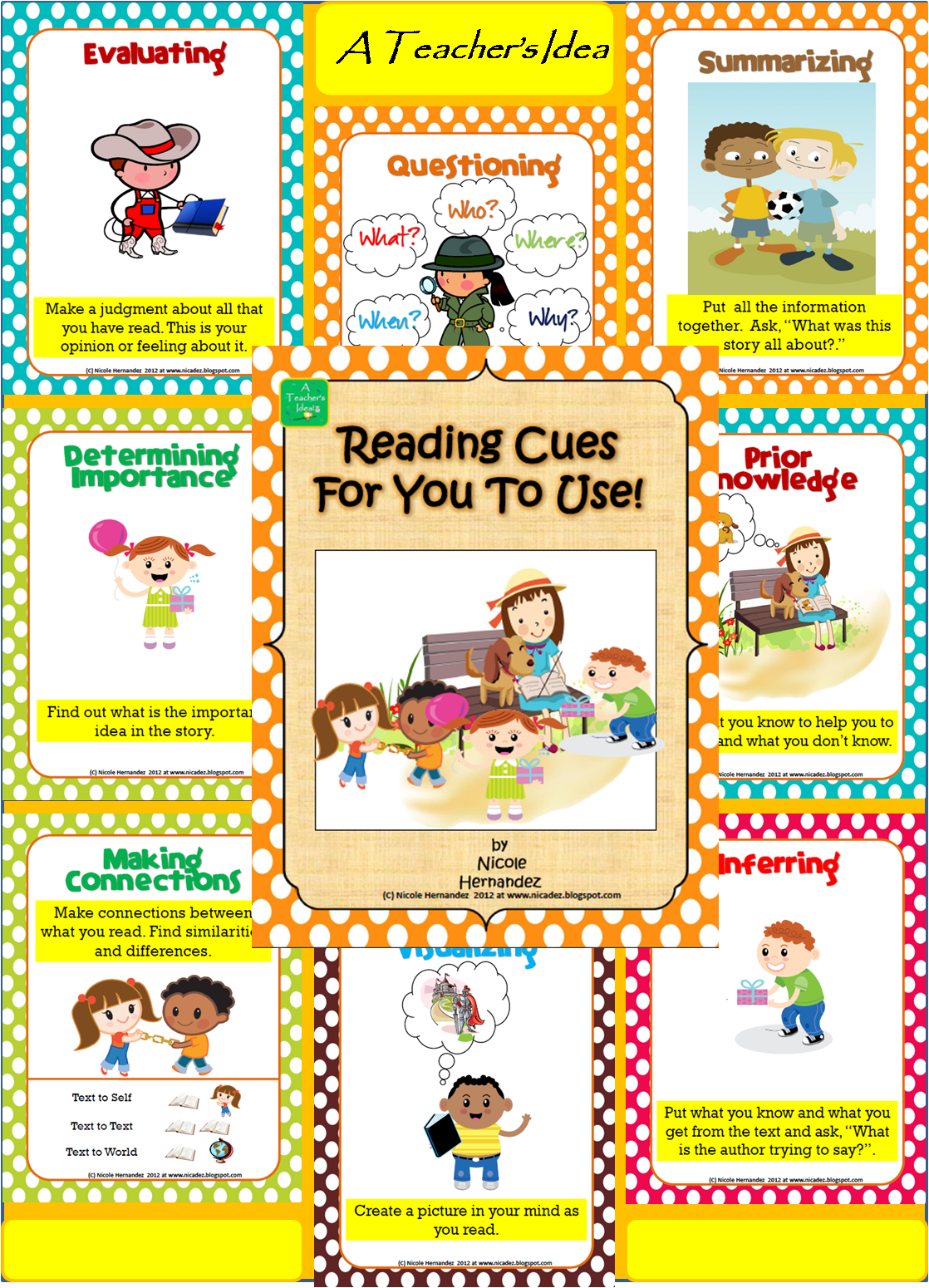 Reading Comprehension Posters For Reading Strategies And