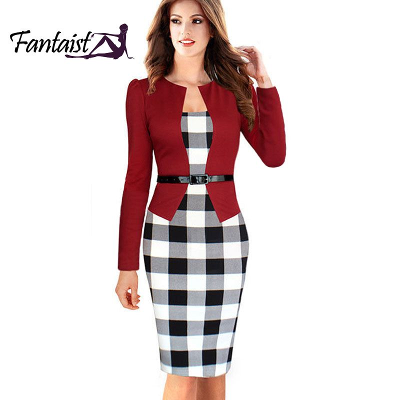Find More Dresses Information about Top Grade Women Work Wear Gown Long Sleeve Elgant Party…