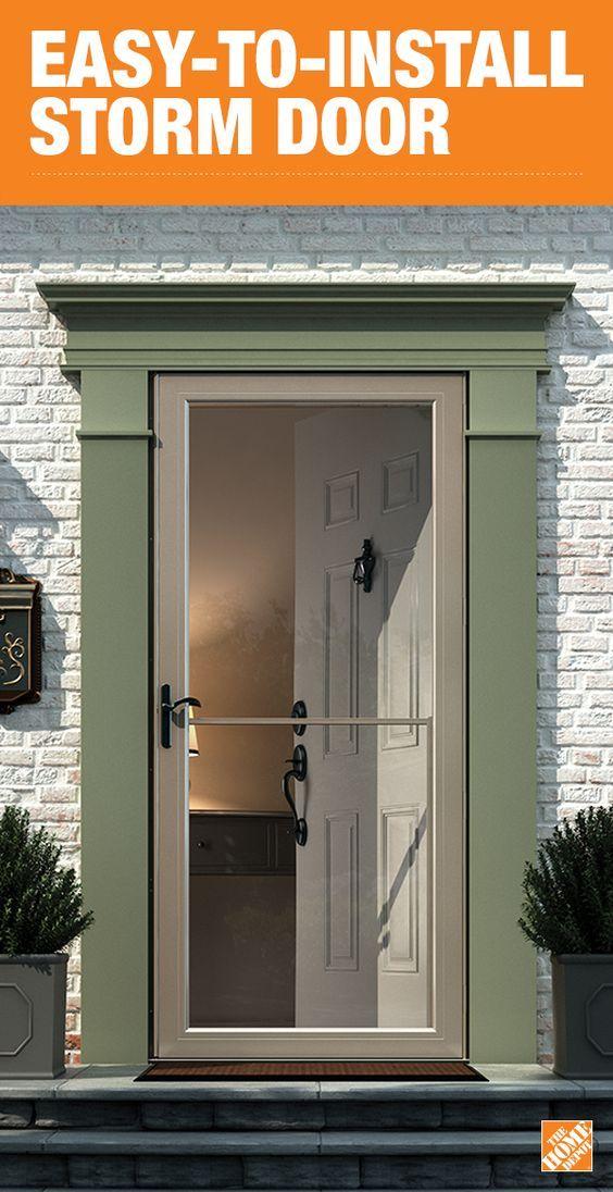 The Durable Andersen 3000 Series Self Storing Storm Door Has A One