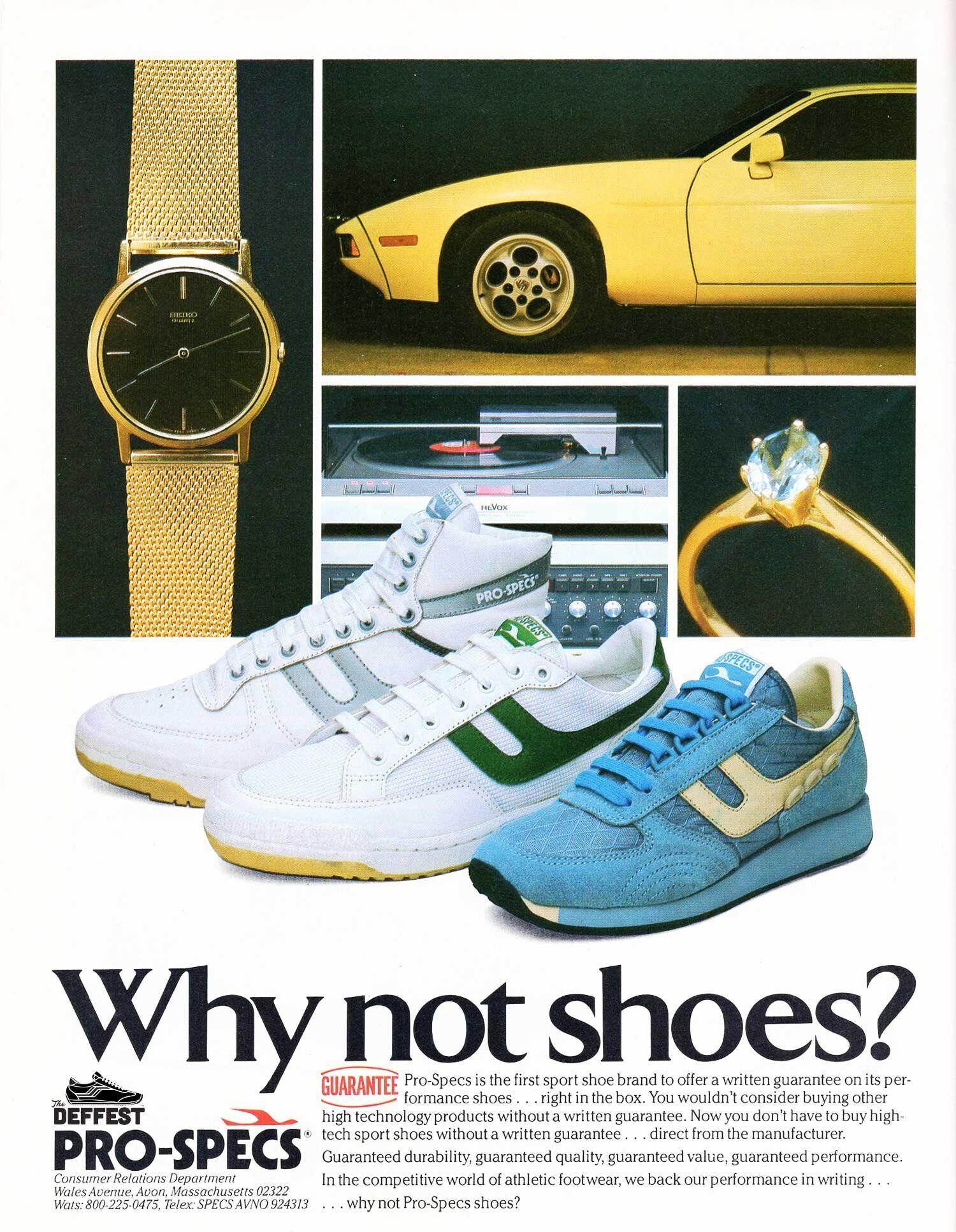 ProSpecs 1983 vintage sneaker ad The Deffest Vintage