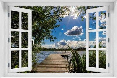 Fototapeta 3d Allegro Pl Wiecej Niz Aukcje Najlepsze Oferty Na Najwiekszej Platformie Handlowej Window Painting Lovely Poster Wald