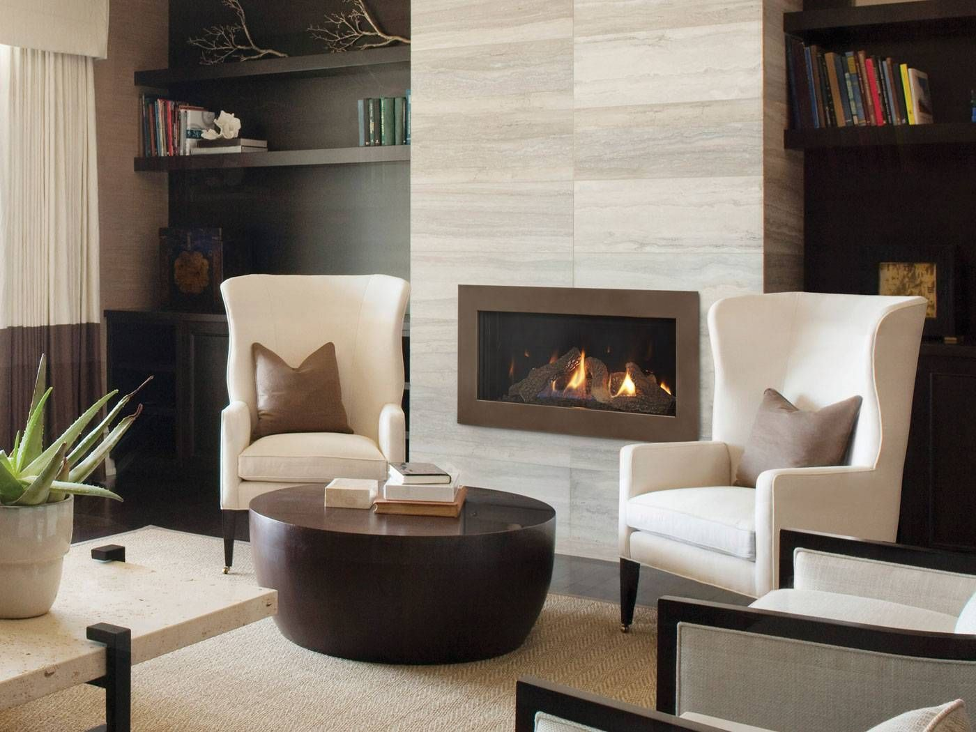 Gas Fireplace In Basement Contemporary Fireplace Home