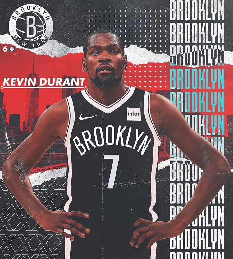 6ix On Instagram Will Kd Live Up To The Hype In Brooklyn Kevindurant Kd7 Kd Brooklynnets Nets B Basketball Players Nba Brooklyn Basketball Nba Artwork