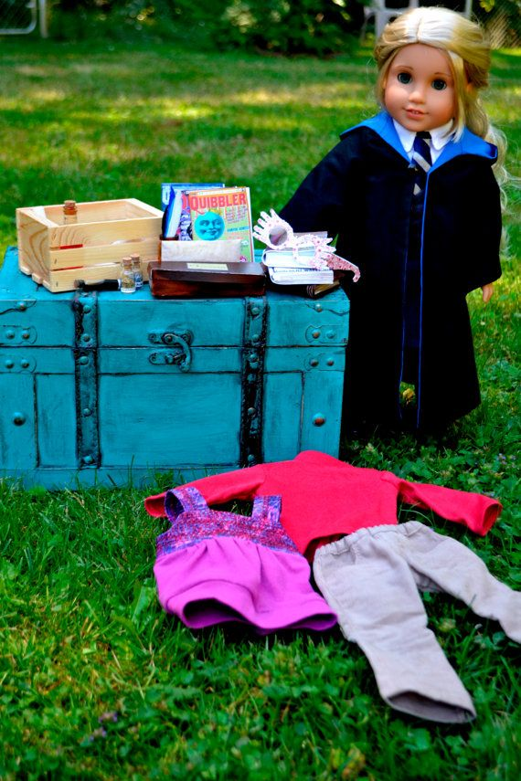 american girl doll harry potter luna lovegood custom ag doll clothes trunk potions books by katelaurendesigns via etsy 375 00
