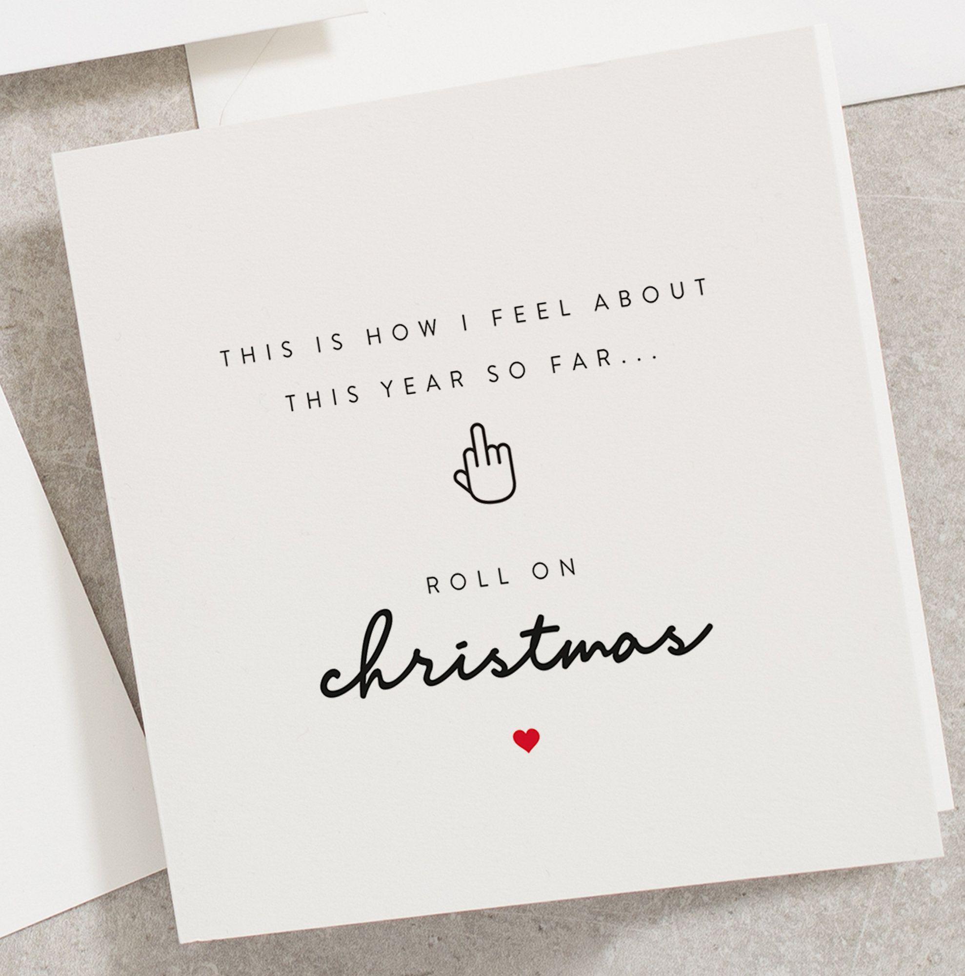 Funny Christmas Card Roll On Christmas 2020 Christmas Card Etsy Funny Christmas Cards Christmas Cards Christmas Humor