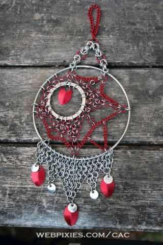 red and silver dreamcatcher - Dreamcatchers & Candle Holders - Gallery - TheRingLord