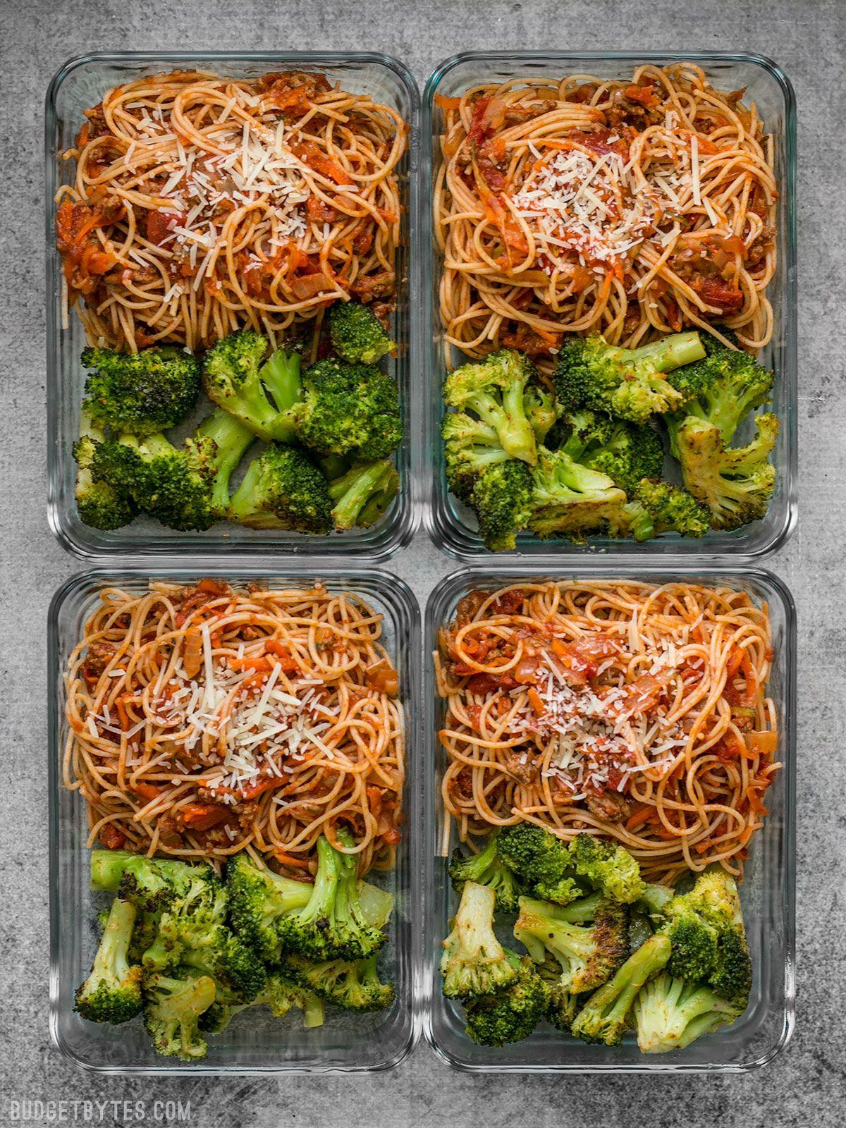 Spaghetti Meal Prep - Budget Bytes