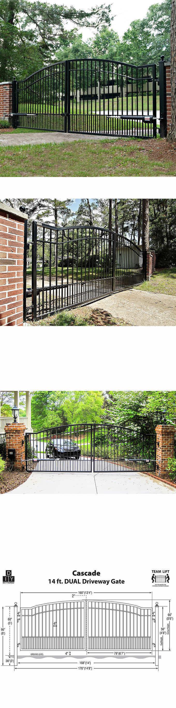 Garden Gates 139948: Decorative Mighty Mule Cascade 14 Dual Steel ...