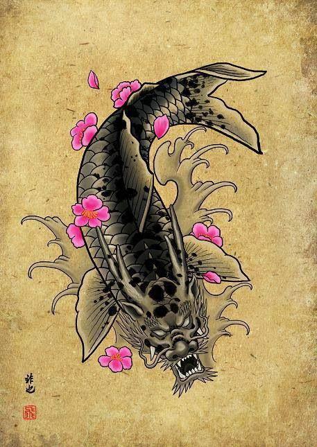 die besten 25 dragon koi fish ideen auf pinterest koi. Black Bedroom Furniture Sets. Home Design Ideas