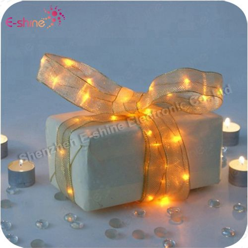 Wholesale Wedding Gift Mini Colorful CR2032 Battery Ribbon Led