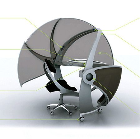 Office pods  VIDEO Futuristic Office Pod Maintains Your Privacy