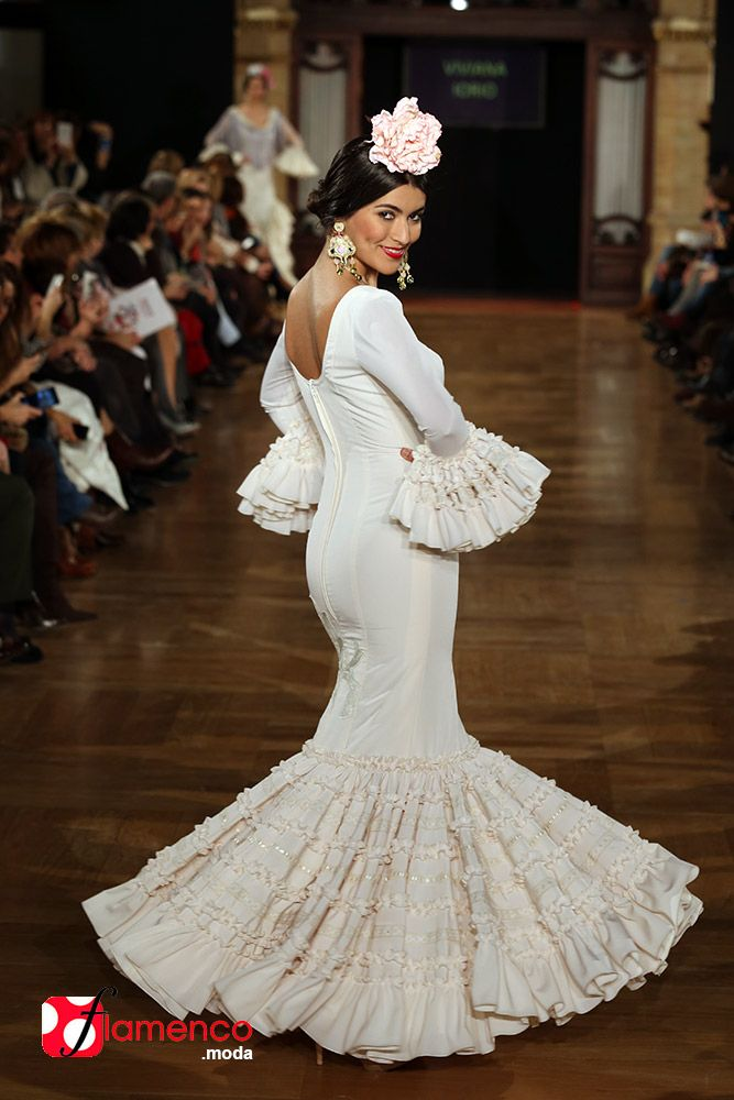 Traje flamenca canastero blanco
