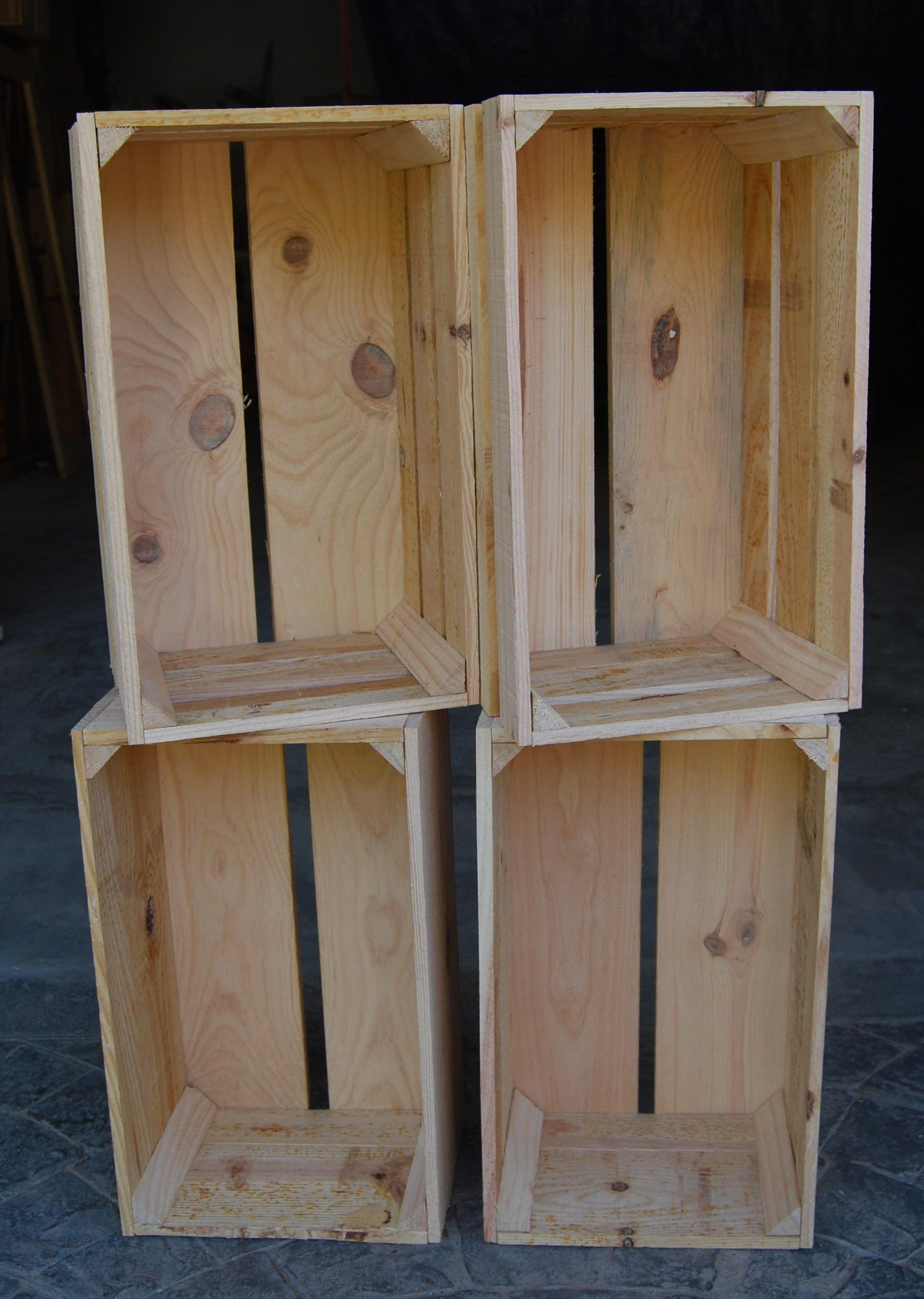 Cajas a color natural madera mueble rustico cosas for Muebles rusticos de madera