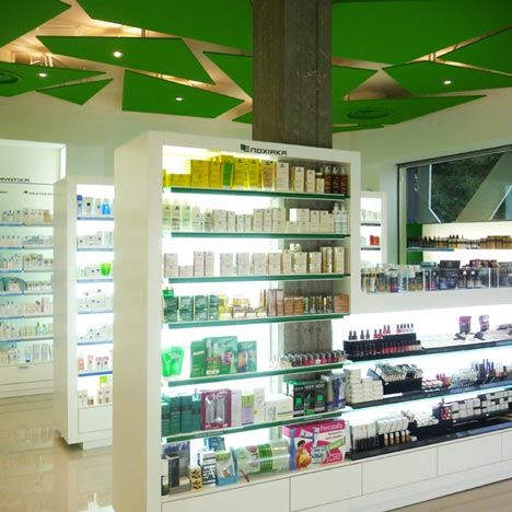 pharmacy cosmetics store interior design