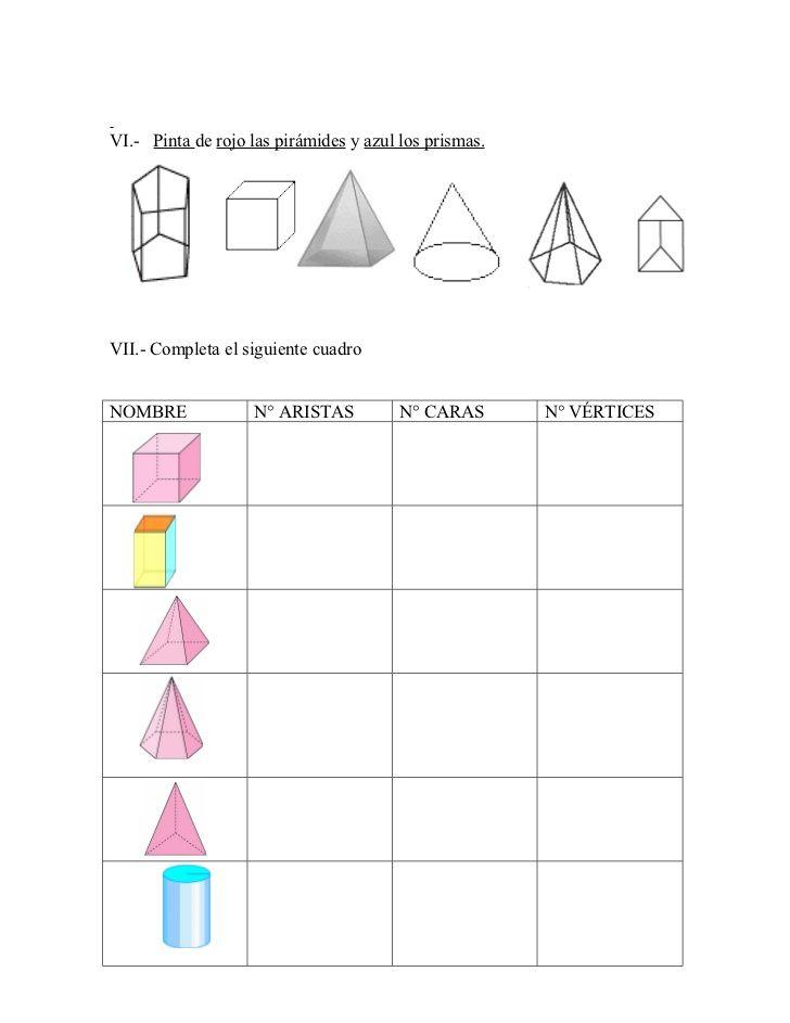 Prismas Y Piramides Ejercicios Buscar Con Google Prismas Y