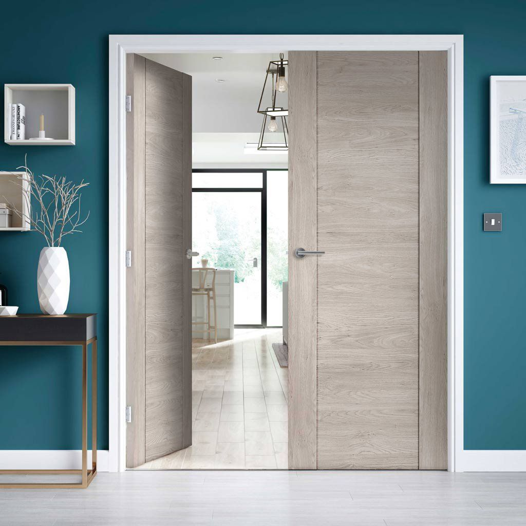 J B Kind Laminates Alabama Fumo Smoky Grey Coloured Door Pair 1 2 Hour Fire Rated Prefinished Contemporary Internal Doors Top Interior Design Firms Doors Interior