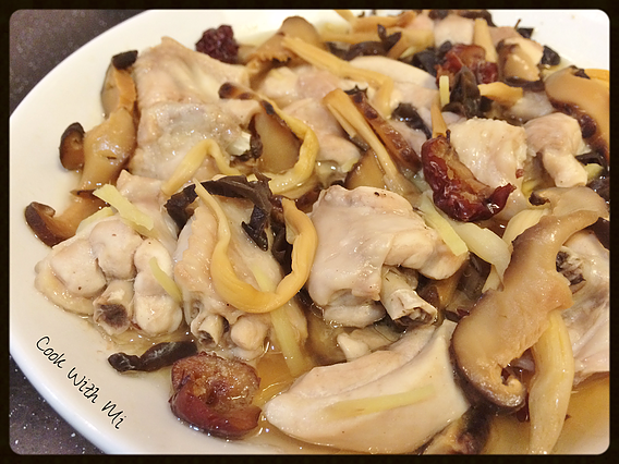Steamed chicken with golden needle vegetables mushrooms cook food steamed chicken with golden needle vegetables forumfinder Image collections