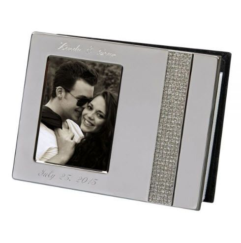 Engraved Crystal Silver Anniversary Photo Album Anniversary Photo Album Album Book Photo Album