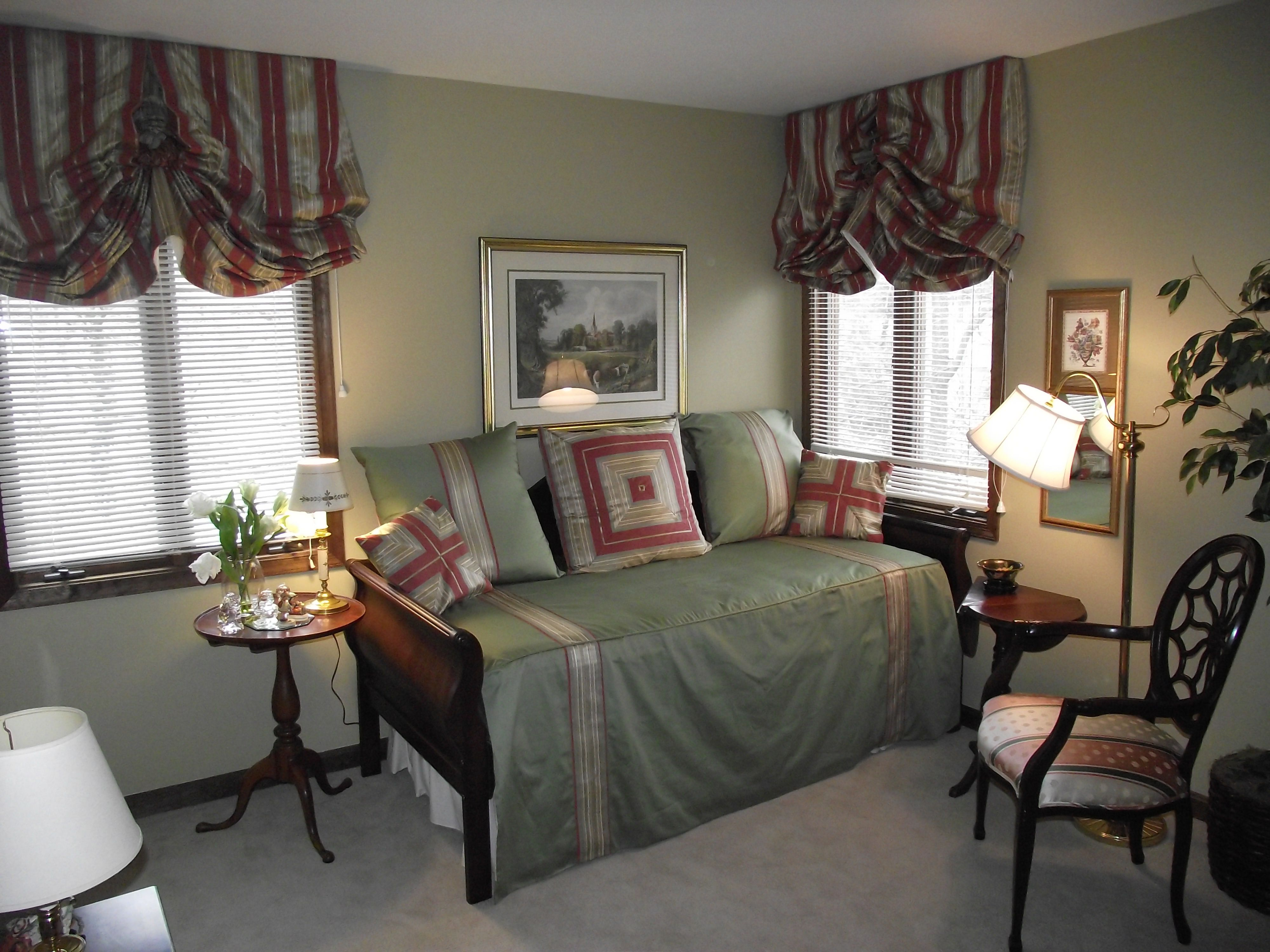 Outside window treatment ideas  redesigned guest room  notice that the day bed cover and outside