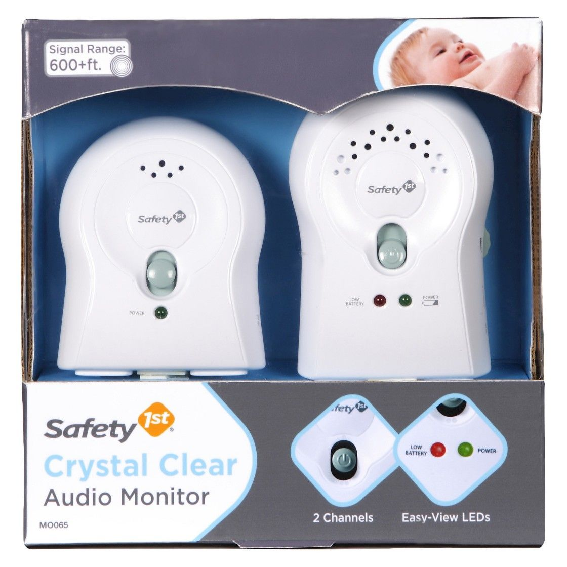 Safety 1st Crystal Clear Audio Baby Monitor White Baby