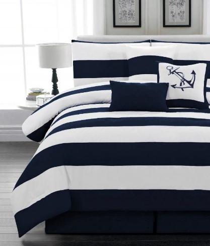 Anchor Bedding Sets And, Nautical Bed In A Bag Queen