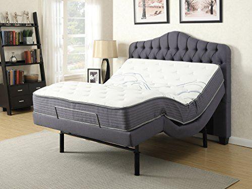 Primo International Gemma Twin Xl Adjustable Bed Adjustable Beds Upholstered Headboard Headboard