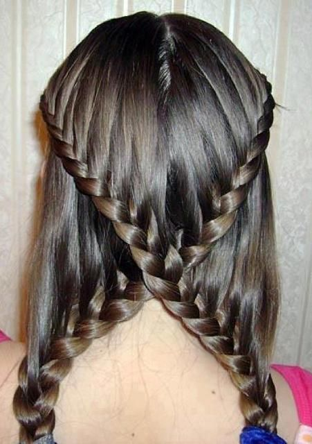 simple french braided hair - Google Search