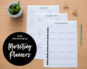 marketing suite blog planner newsletter planner and social media