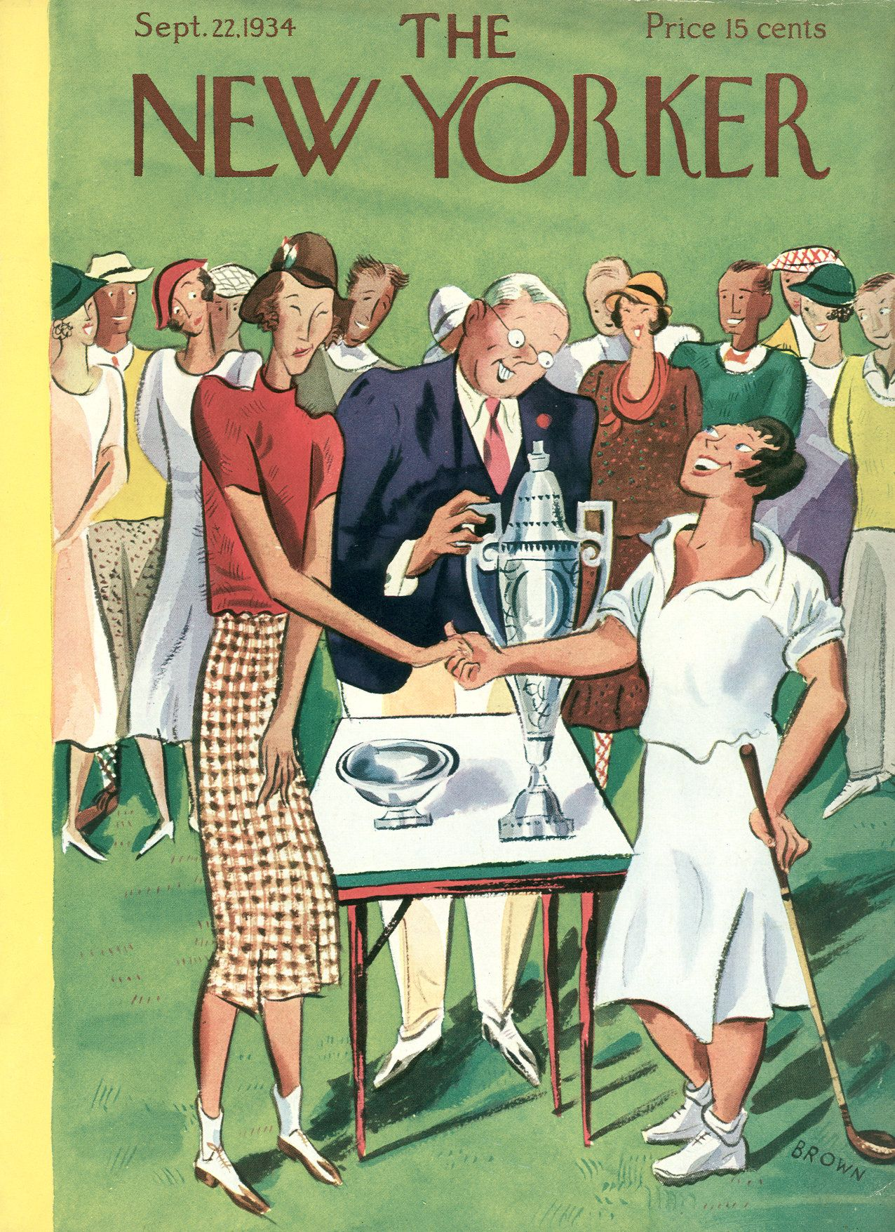 The New Yorker - Saturday, September 22, 1934 - Issue # 501 - Vol. 10 - N° 32 - Cover by : Harry Brown